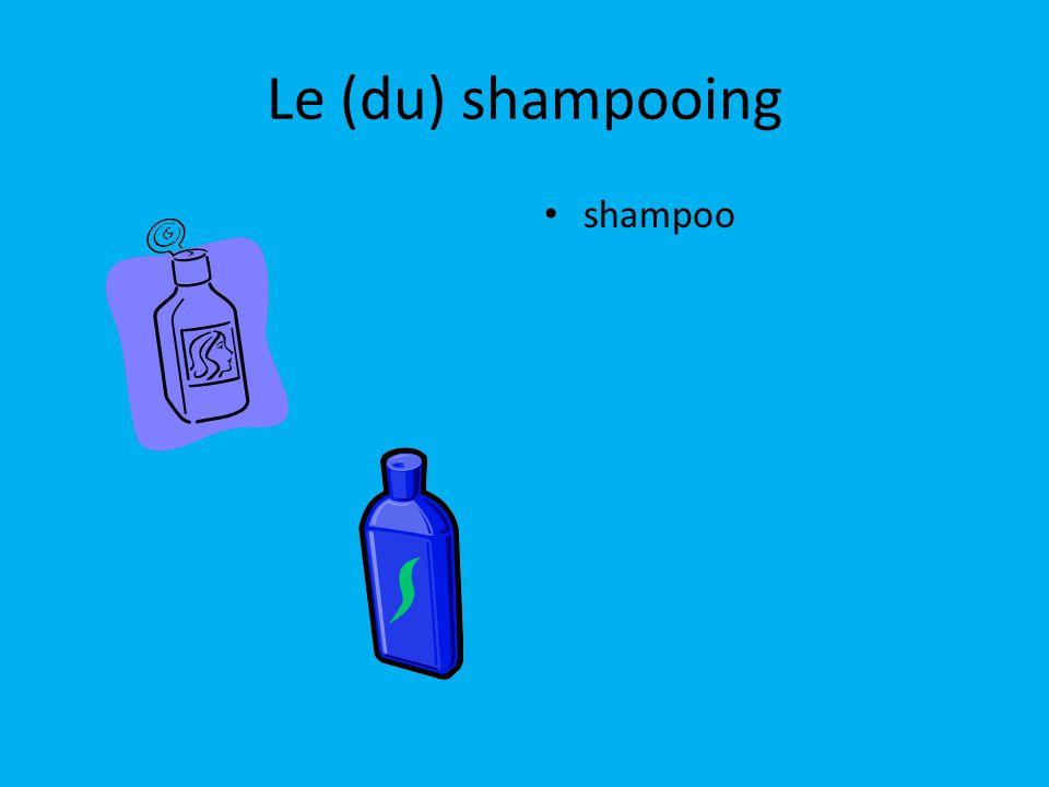 Le (du) shampooing shampoo