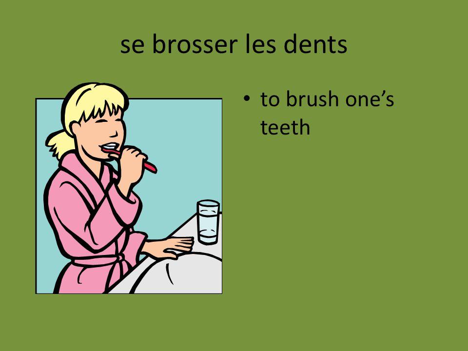 se brosser les dents to brush one's teeth