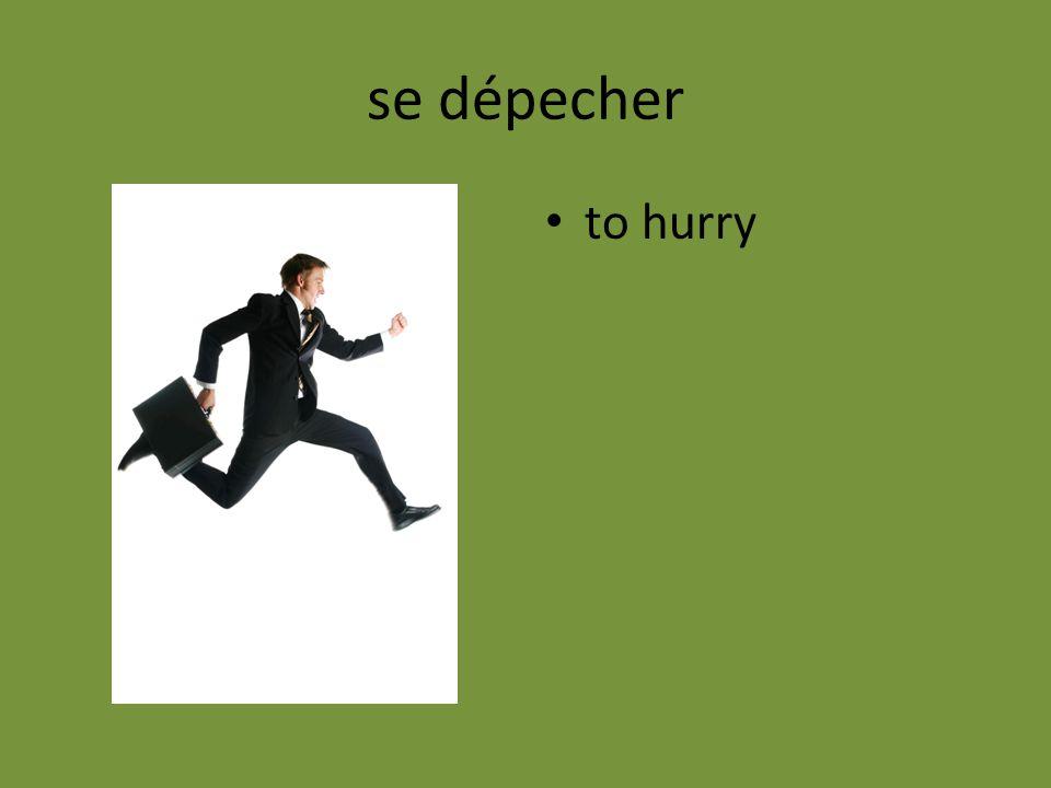 se dépecher to hurry