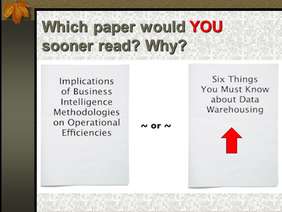 The reader will be unable to know what you have done!