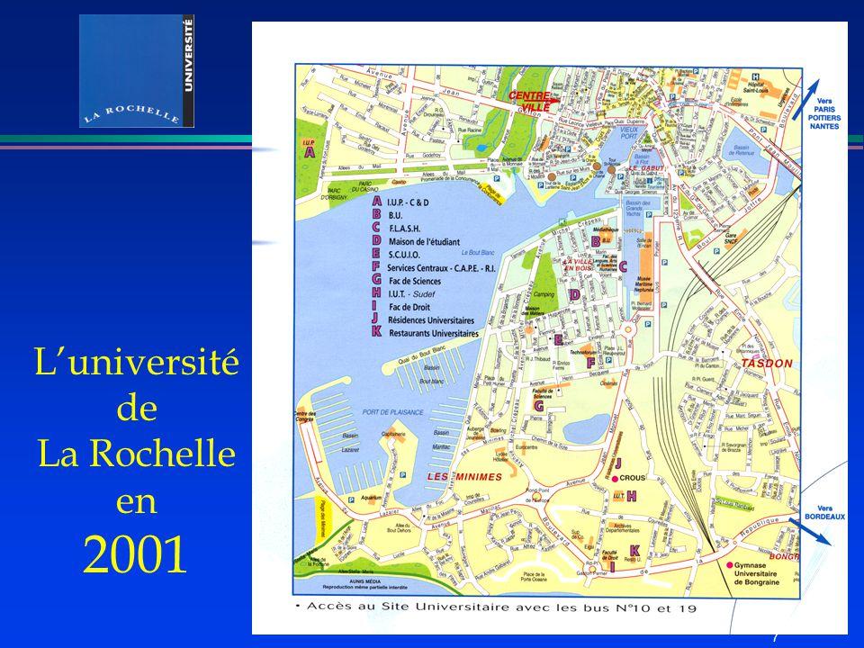 L'université de La Rochelle en 2001 7