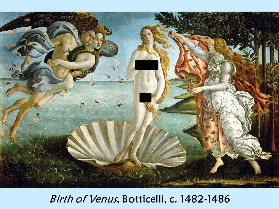 Birth of Venus, Botticelli, c. 1482-1486
