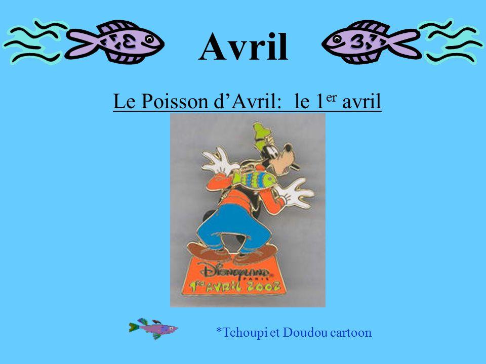 Avril Le Poisson d'Avril: le 1 er avril *Tchoupi et Doudou cartoon