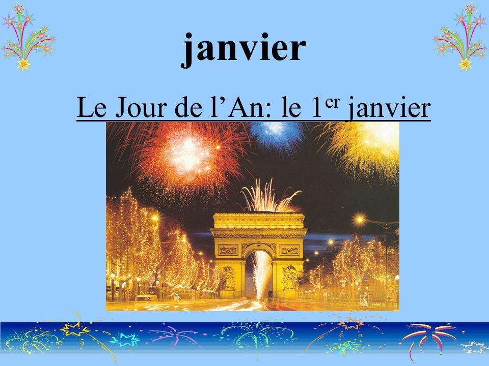 janvier Le Jour de l'An: le 1 er janvier
