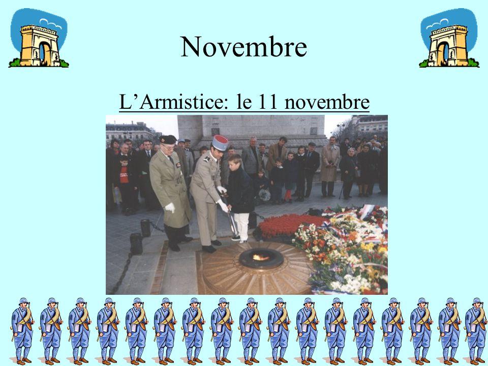 Novembre L'Armistice: le 11 novembre