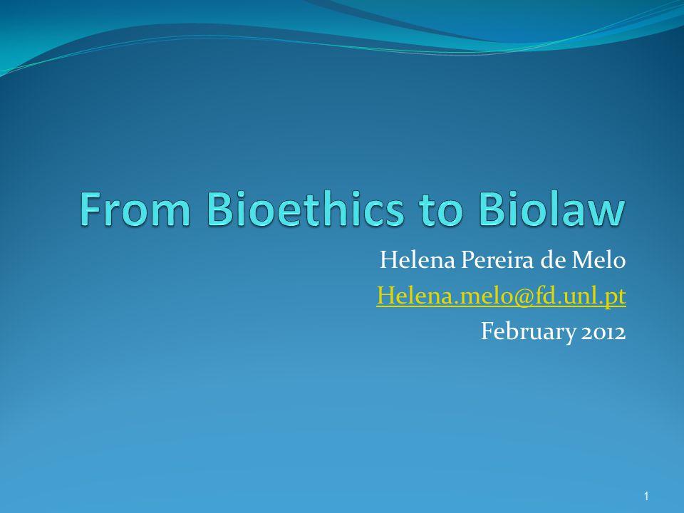 Helena Pereira de Melo Helena.melo@fd.unl.pt February 2012 1