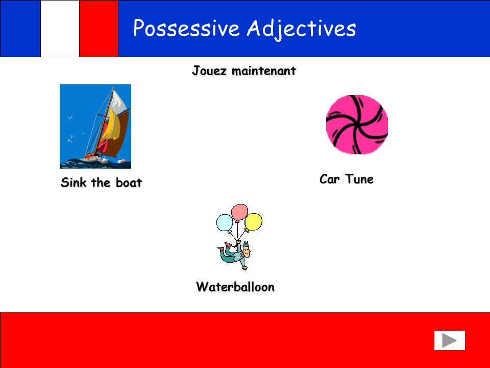 Possessive Adjectives Try to put these words in the right column - Son Sa Ses His father, her mother, his pens, her pens, his table, her school, his computer, her socks, his shoes, his books, her ruler, her cat, her work, his car, his eraser.