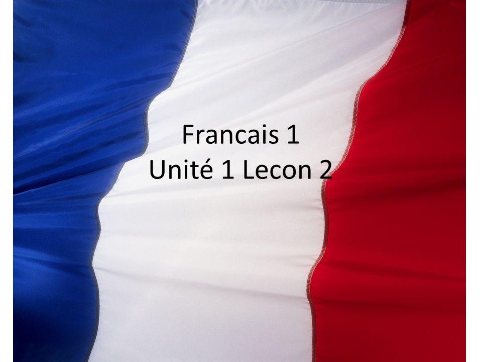 Francais 1 Unité 1 Lecon 2