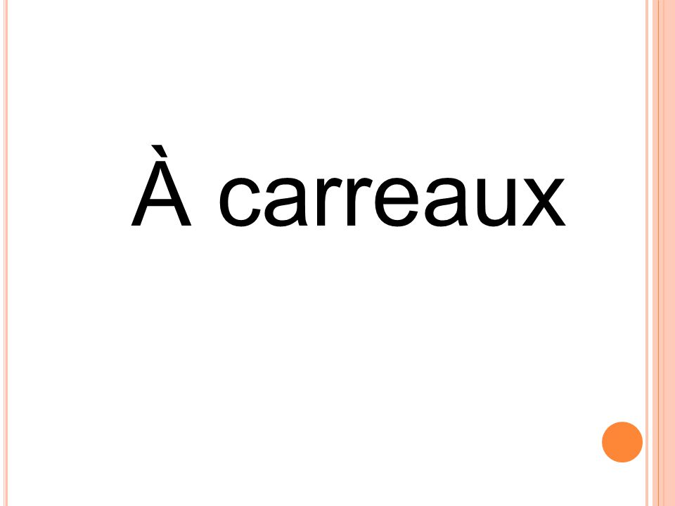 À carreaux