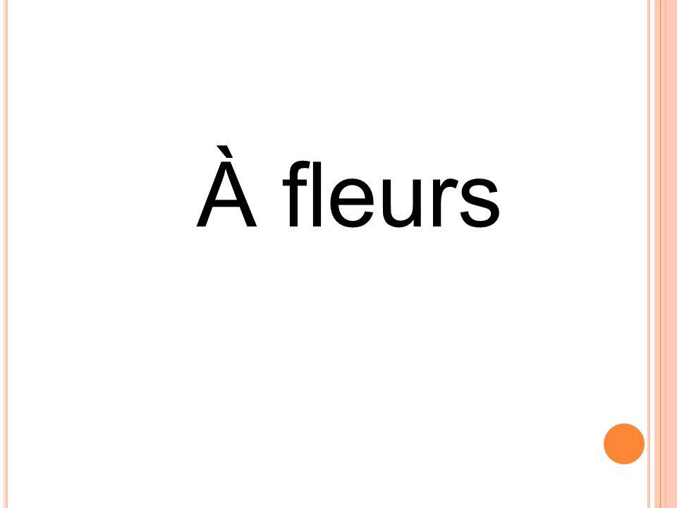 À fleurs