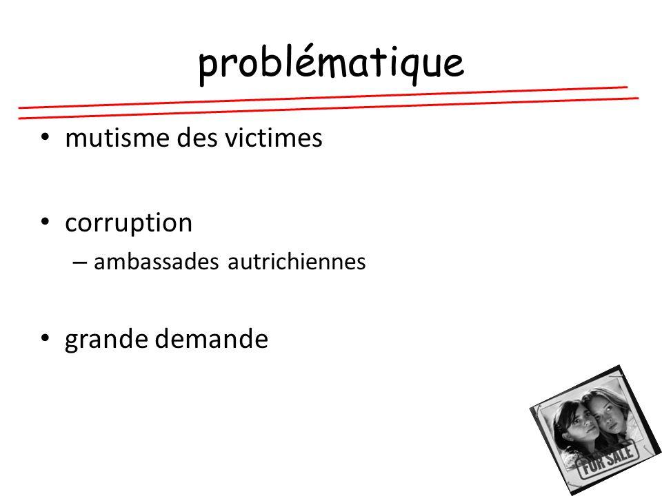 problématique mutisme des victimes corruption – ambassades autrichiennes grande demande