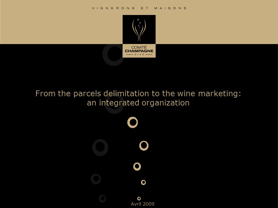 From the parcels delimitation to the wine marketing: an integrated organization Avril 2009