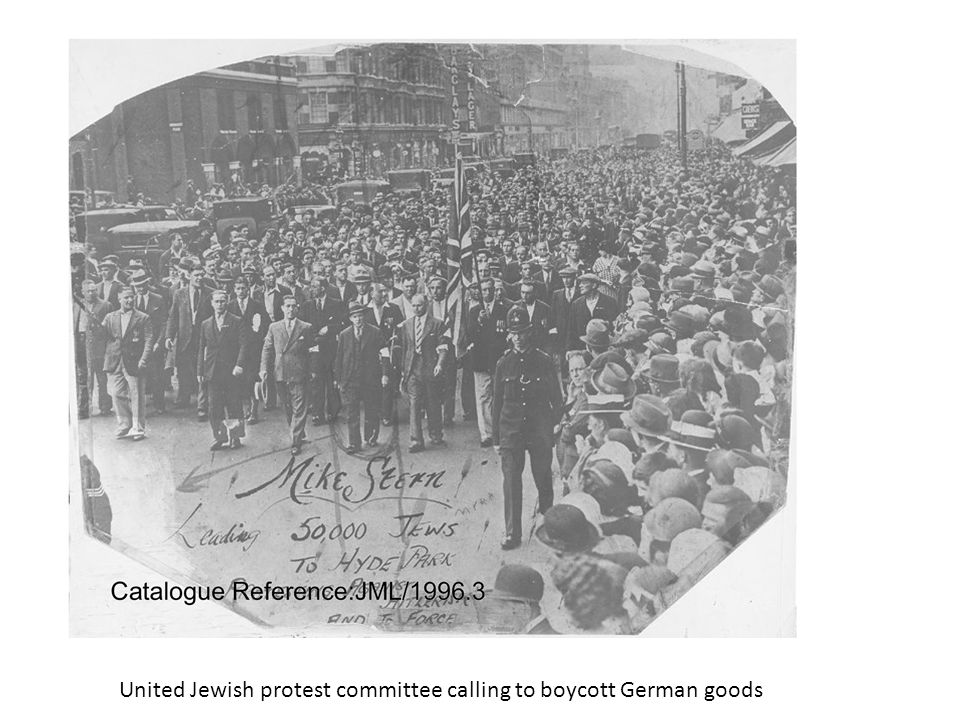 United Jewish protest committee calling to boycott German goods
