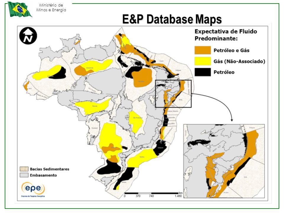 Ministério de Minas e Energia E&P Database Maps