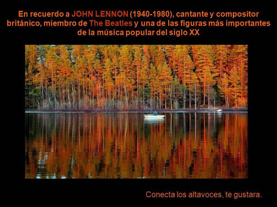 Imagine wave En recuerdo a JOHN LENNON (1940-1980), cantante y compositor británico, miembro de The Beatles y una de las figuras más importantes de la música popular del siglo XX Conecta los altavoces, te gustara.