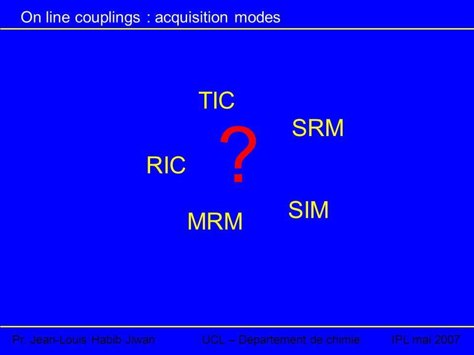 On line couplings : acquisition modes Pr.