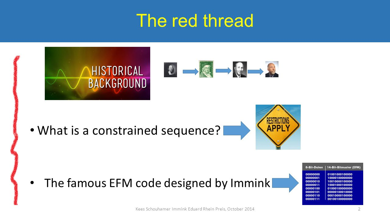 The red thread What is a constrained sequence.