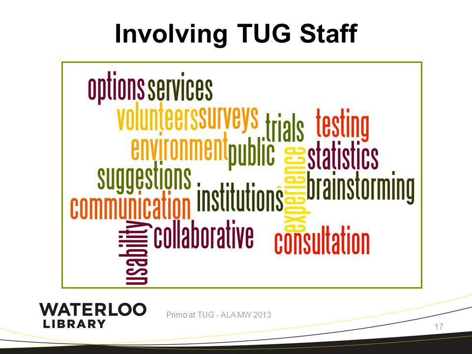 Involving TUG Staff Primo at TUG - ALA MW 2013 17