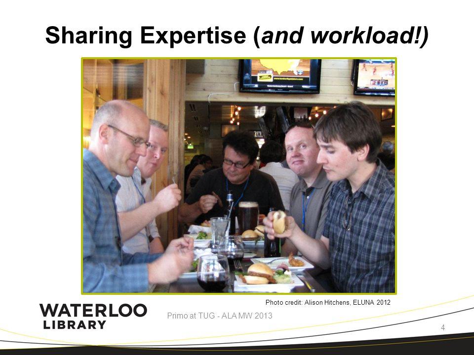 Common User Experience… Primo at TUG - ALA MW 2013 5