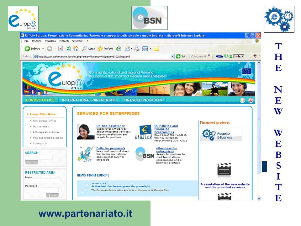 T H E N E W W E B S I T E www.partenariato.it