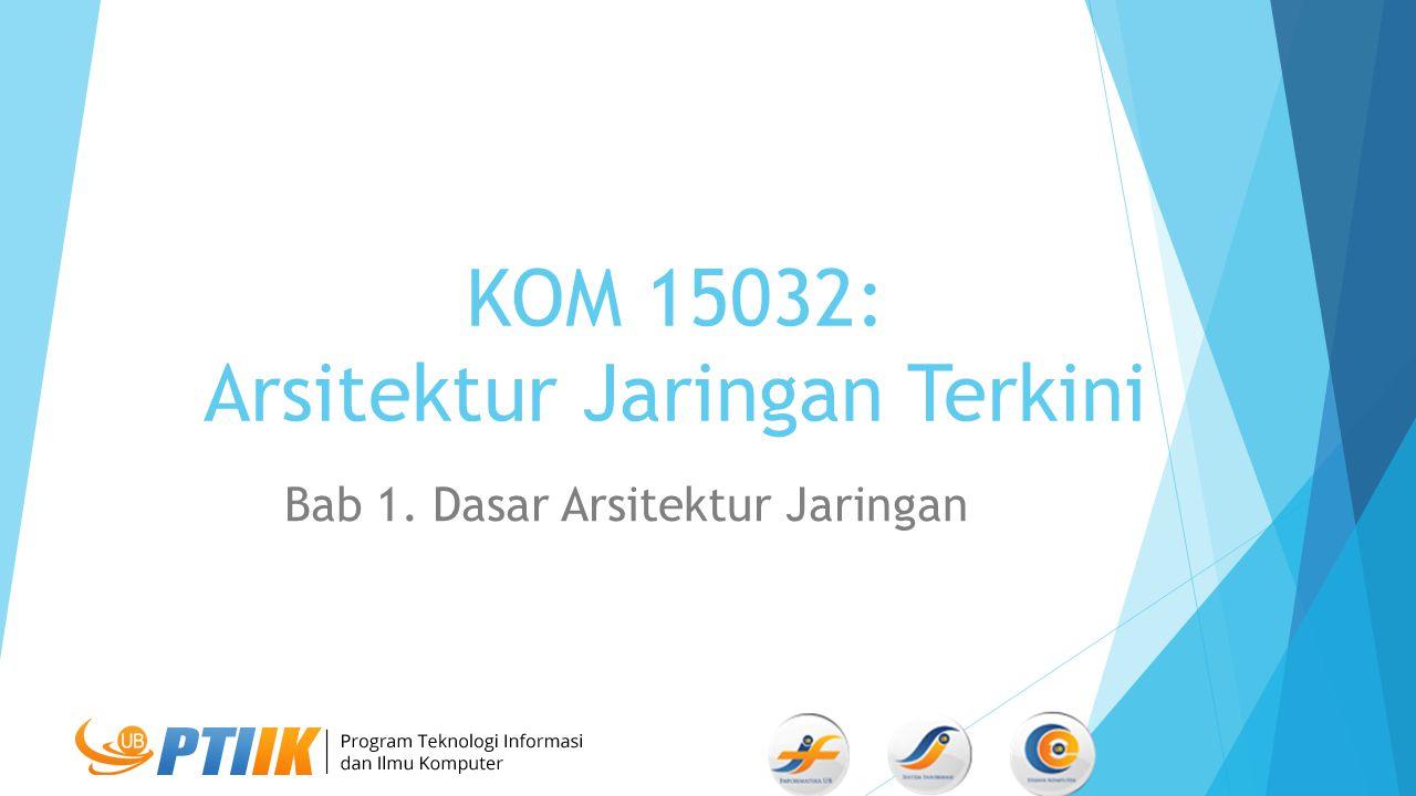 KOM 15032: Arsitektur Jaringan Terkini Bab 1. Dasar Arsitektur Jaringan