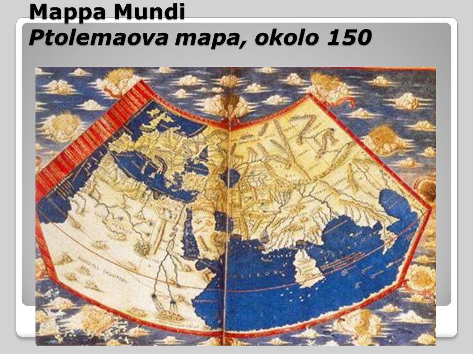 Mappa Mundi Ptolemaova mapa, okolo 150