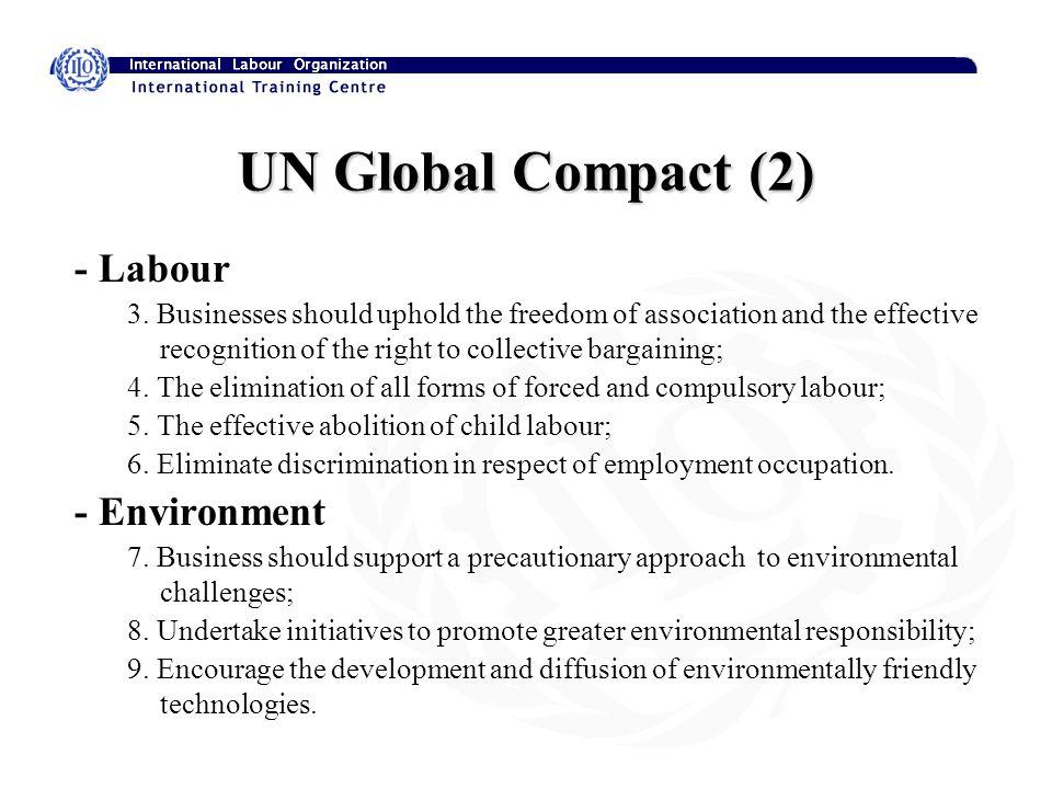 UN Global Compact (2) - Labour 3.