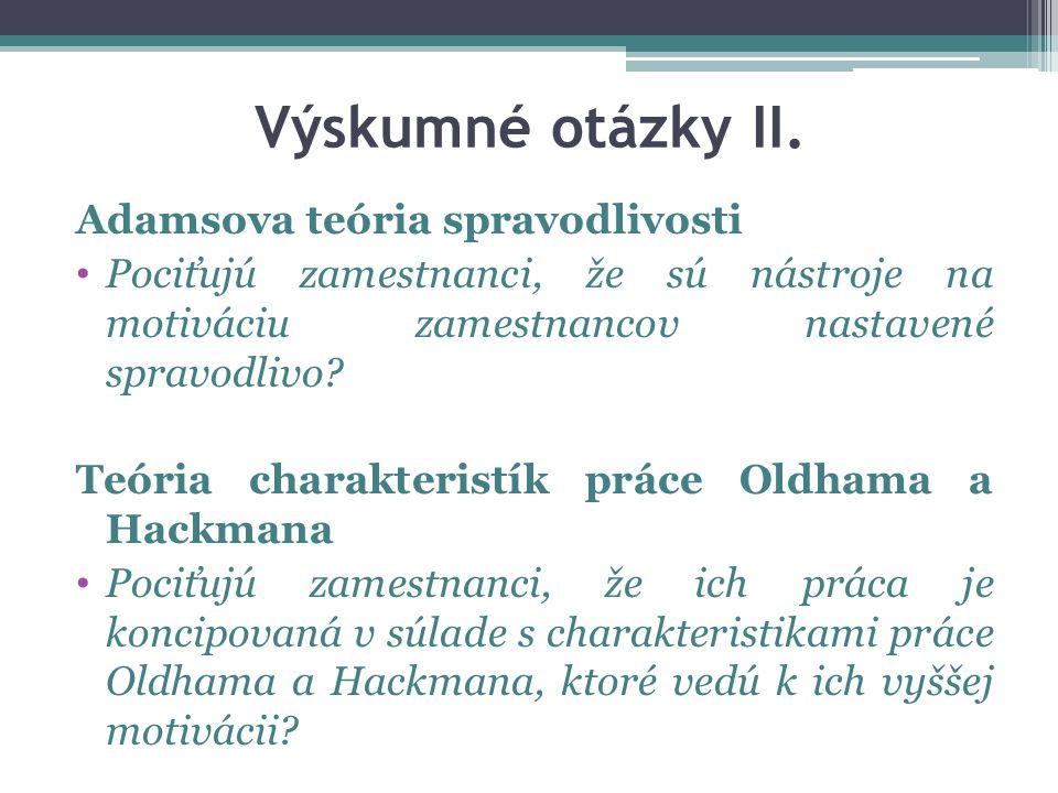 Výskumné otázky II.