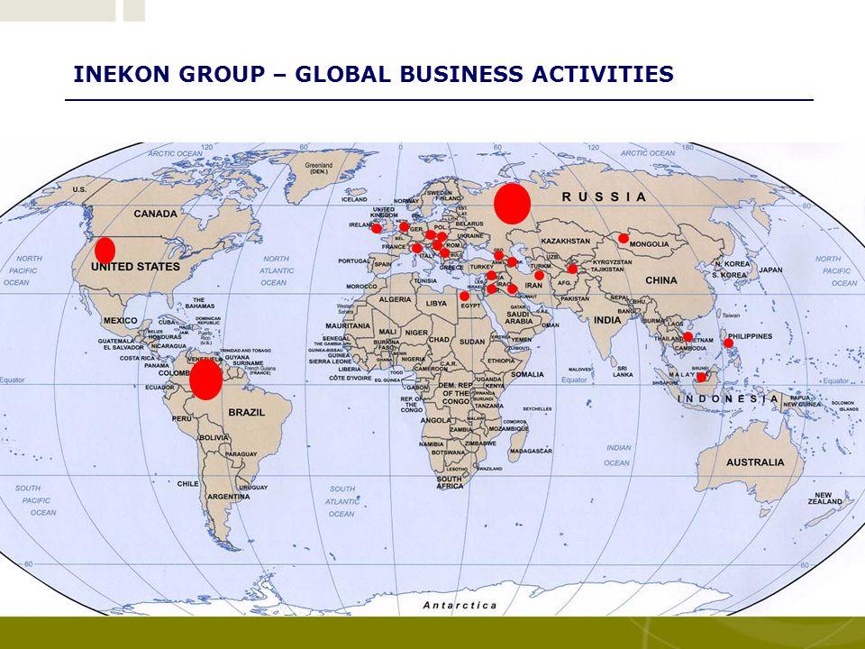 INEKON GROUP – GLOBAL BUSINESS ACTIVITIES