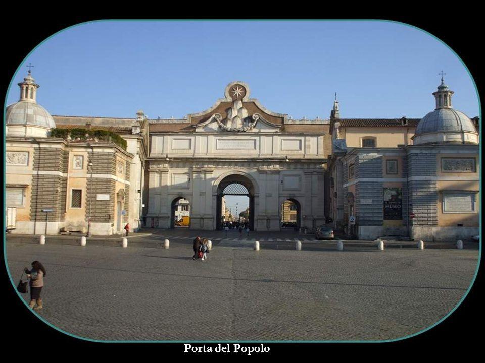 Facade of Basilica Maria del Popolo