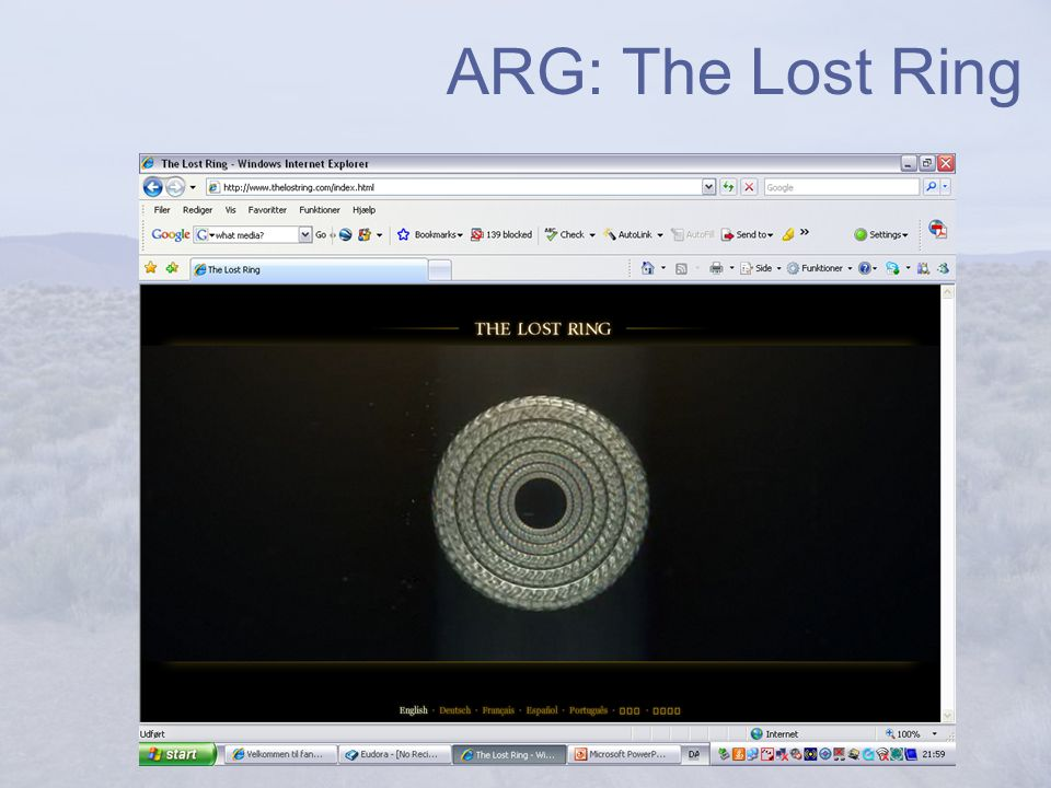 ARG: The Lost Ring