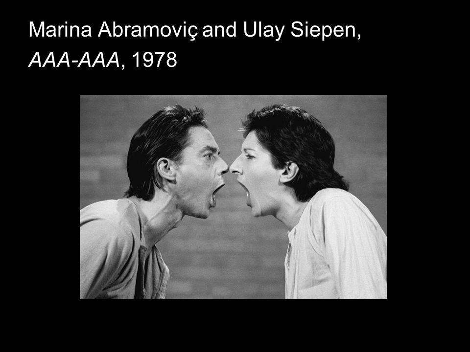 Marina Abramoviç and Ulay Siepen, AAA-AAA, 1978