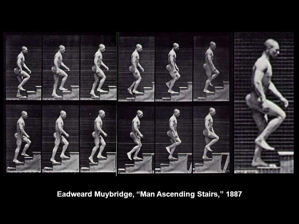 "Eadweard Muybridge, ""Man Ascending Stairs,"" 1887"
