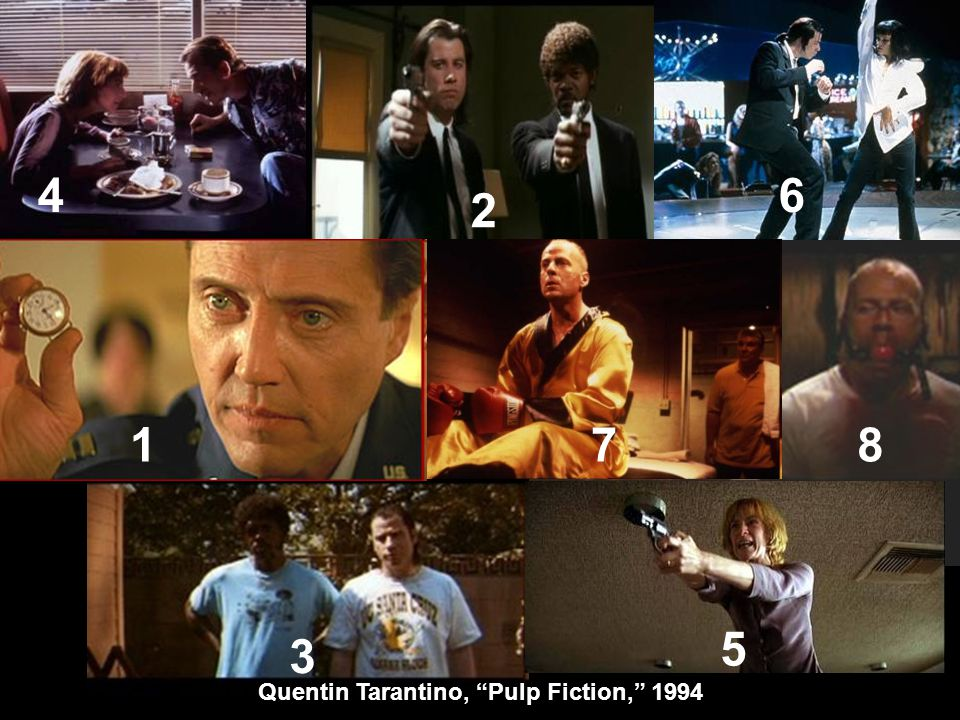 Quentin Tarantino, Pulp Fiction, 1994 4 2 6 178 3 5
