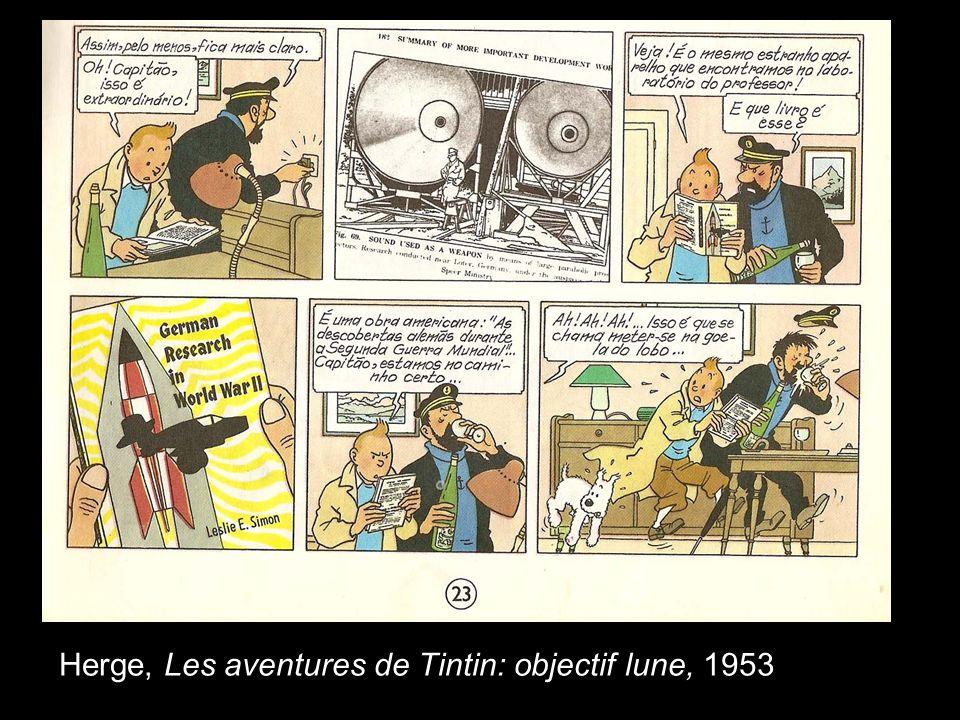 Herge, Les aventures de Tintin: objectif lune, 1953
