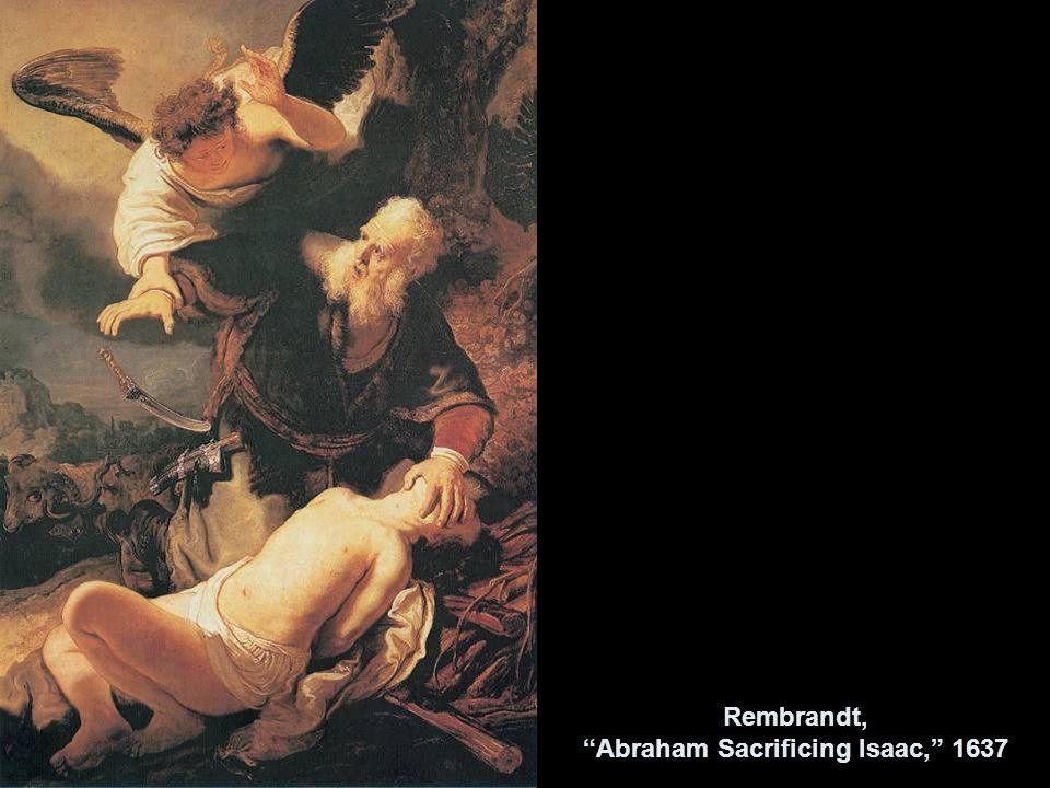 Rembrandt, Abraham Sacrificing Isaac, 1637