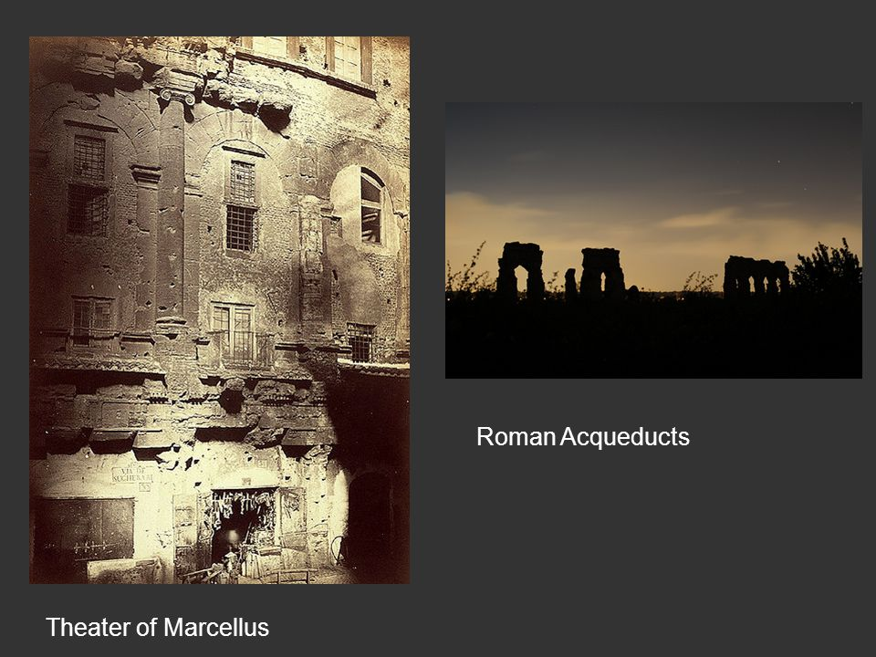 Theater of Marcellus Roman Acqueducts