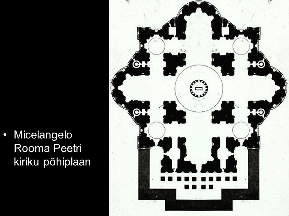 Micelangelo Rooma Peetri kiriku põhiplaan