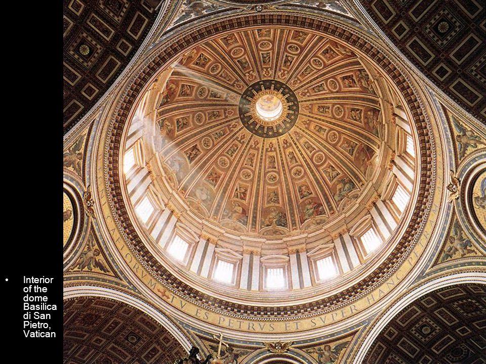 Interior of the dome Basilica di San Pietro, Vatican