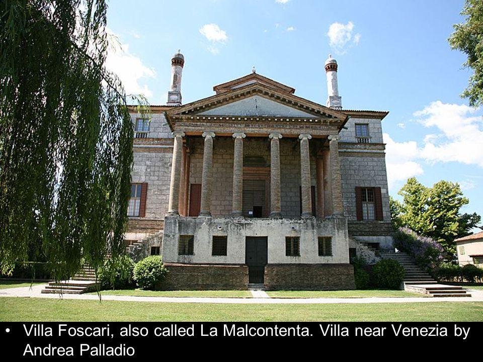 Villa Foscari, also called La Malcontenta. Villa near Venezia by Andrea Palladio