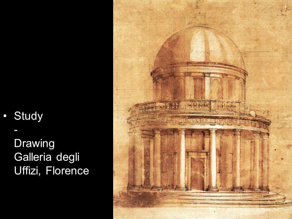Study - Drawing Galleria degli Uffizi, Florence