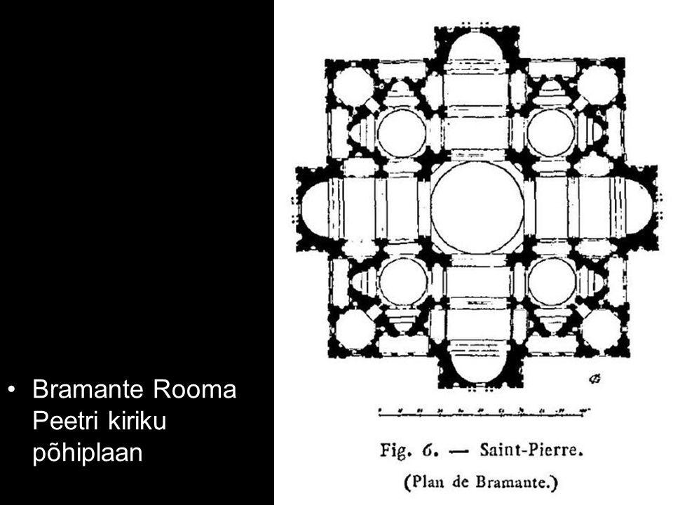 Bramante Rooma Peetri kiriku põhiplaan