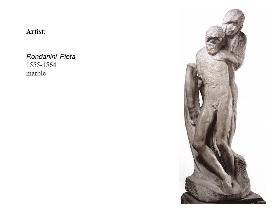 Artist: Rondanini Pieta 1555-1564 marble