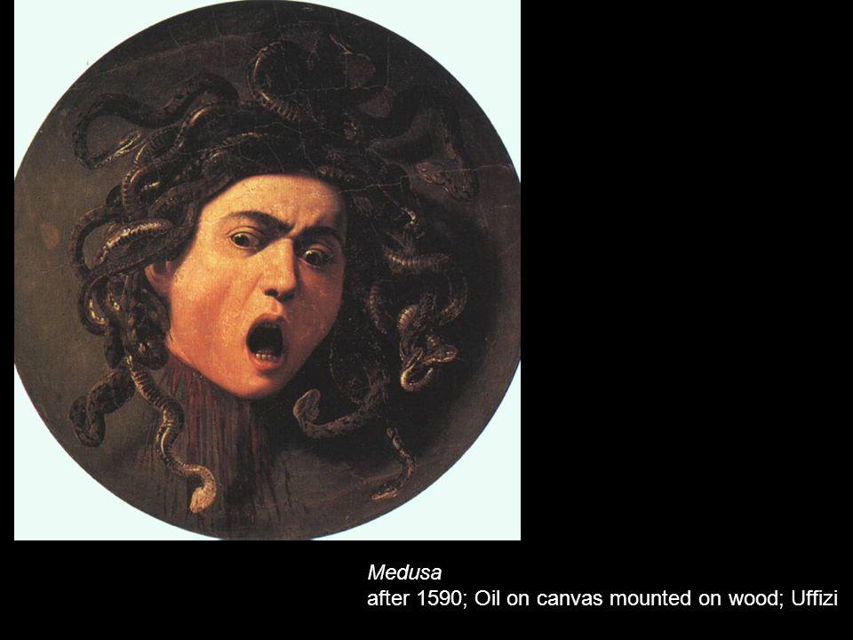 Medusa after 1590; Oil on canvas mounted on wood; Uffizi