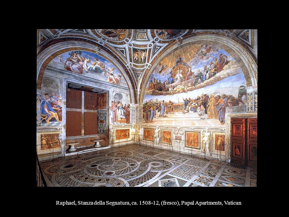 Raphael, Stanza della Segnatura, ca. 1508-12, (fresco), Papal Apartments, Vatican