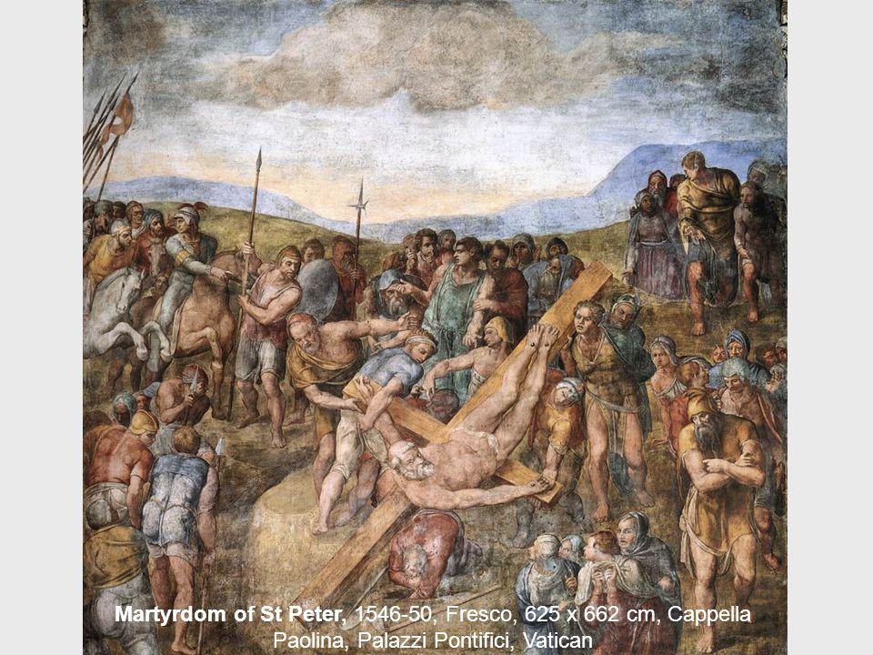 The Conversion of Saul, 1542-45, Fresco, 625 x 661 cm, Cappella Paolina, Palazzi Pontifici, Vatican