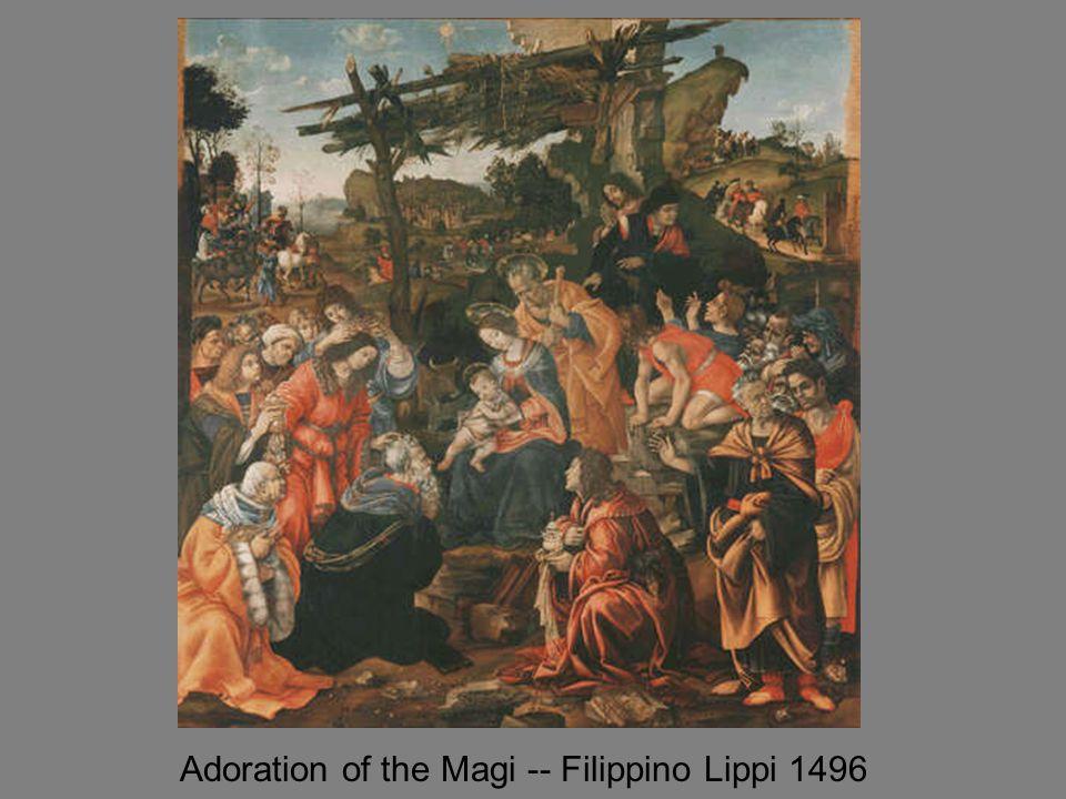 Adoration of the Magi -- Filippino Lippi 1496