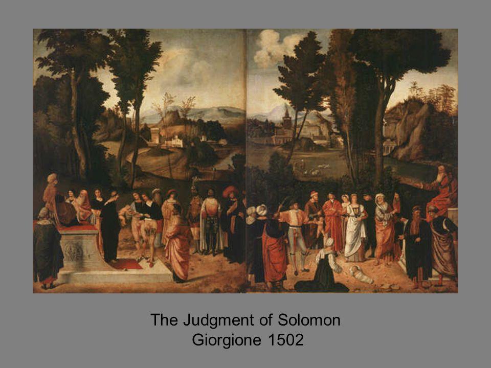 The Judgment of Solomon Giorgione 1502
