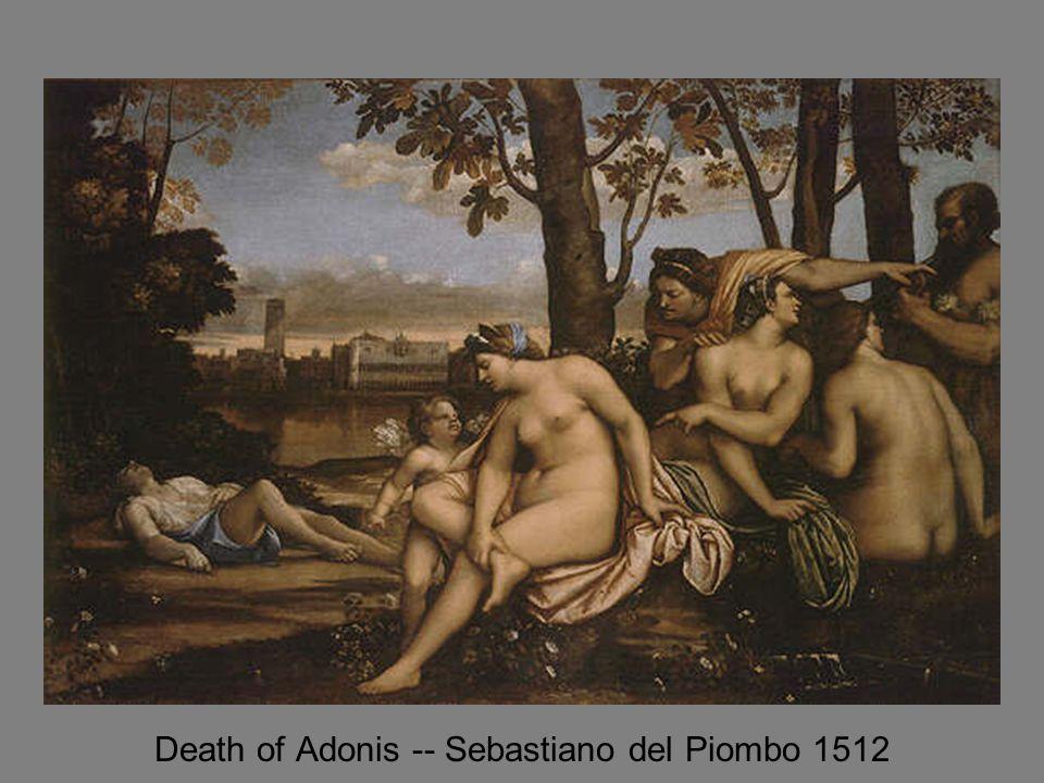 Death of Adonis -- Sebastiano del Piombo 1512