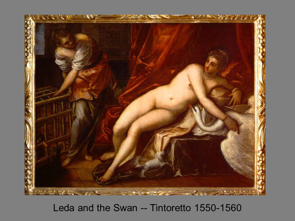 Leda and the Swan -- Tintoretto 1550-1560